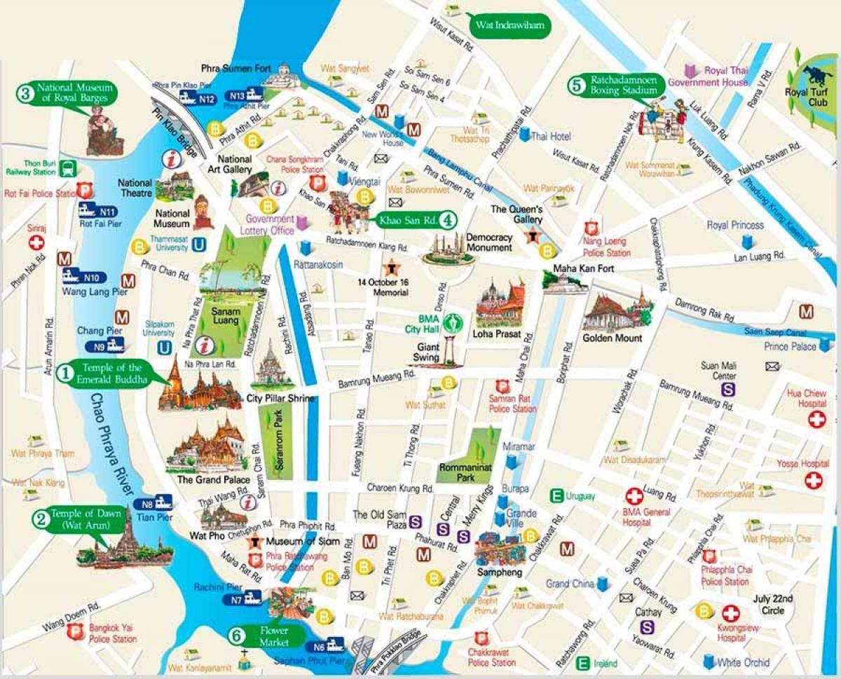 Bangkok Karte.Bangkok Besuchen Orte Anzeigen Bangkok Orte Zu Besuchen Karte