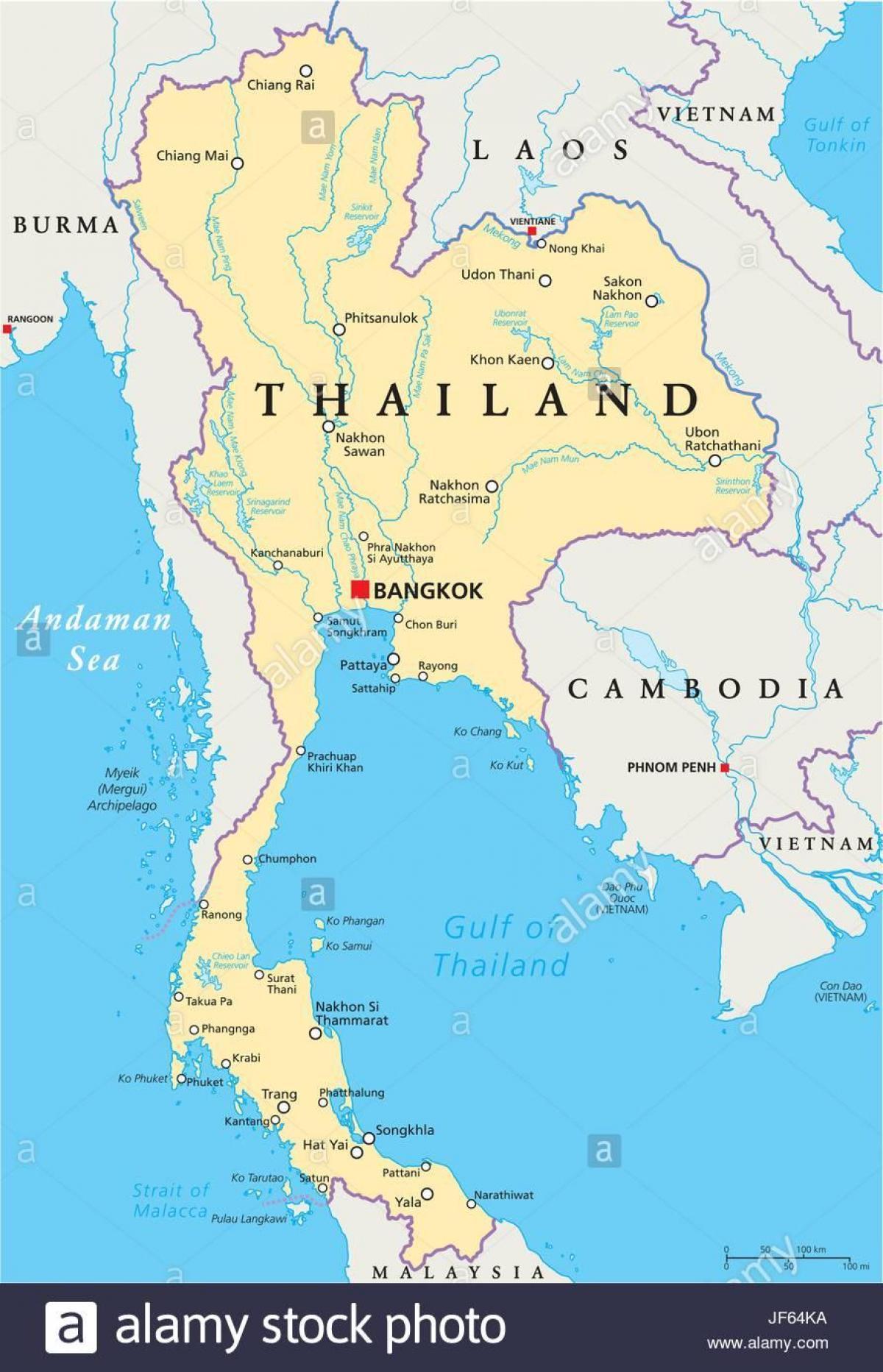 Bangkok Standort auf Weltkarte - Bangkok thailand world map (Thailand)